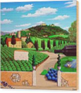 Picnic In Tuscany Wood Print