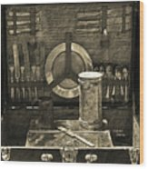 Picnic Pastime Wood Print