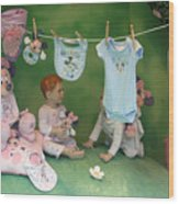 Picnic With Minnie Wood Print