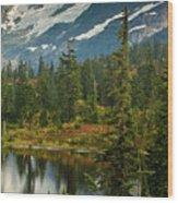 Picture Lake Vista Wood Print
