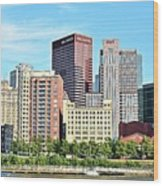 Picture Perfect Pittsburgh Panoramic Wood Print