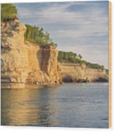 Pictured Rock Wood Print