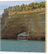 Pictured Rocks Arch Wood Print