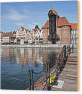 Picturesque City Of Gdansk In Poland Wood Print