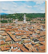 Picturesque Cityscape Of Verona Italy Wood Print