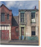 Picturesque Derelict Houses In Hull England Wood Print
