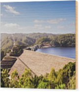 Picturesque Hydroelectric Dam Wood Print