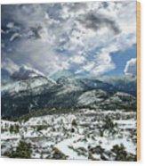 Picturesque Mountain Landscape Wood Print
