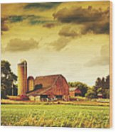 Picturesque North Dakota Farm Wood Print