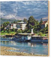 Picturesque River Cruise Wood Print