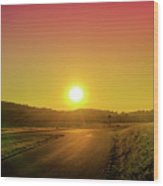 Picturesque Sunset Wood Print