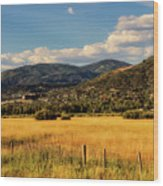 Picturesque View Of Steamboat Springs Colorado Wood Print