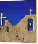 Picuras Pueblo Mission Belltower. Wood Print