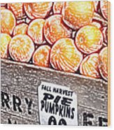 Pie Pumpkins For Sale Wood Print