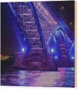 Piece Bridge Wood Print