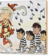 Pied Piper Trump And Infestation Wood Print