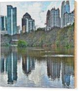 Piedmont Park Atlanta Reflection Wood Print