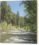 Piedra River Wood Print
