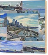 Pier 66 Collage Wood Print