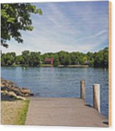 Pier At Kimberly Point Wood Print