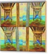 Pier Collage Wood Print