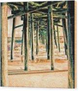 Pier Crisscross Wood Print