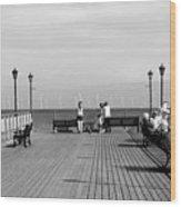 Pier End View At Skegness Wood Print