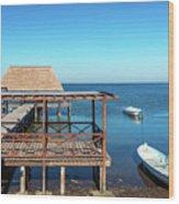 Pier In Champoton, Mexico Wood Print