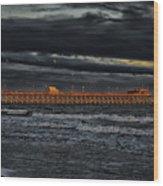 Pier Into Darkness Wood Print