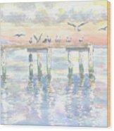 Pier Jury Wood Print