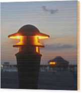 Pier Lights Wood Print