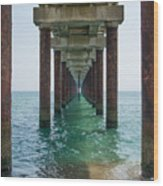 Pier On The Outer Banks Wood Print