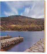 Pier On The Upper Lake In Glendalough - Wicklow, Ireland Wood Print