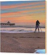 Pier Portrait Photographer Wood Print