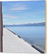Pier Posted Wood Print