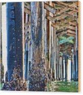 Pier Pylons Balboa Wood Print
