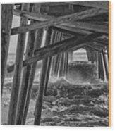 Pier Storm Wood Print