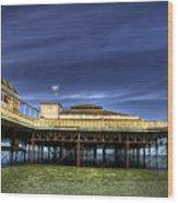 Pier Structure Wood Print