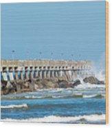 Pier Surf Wood Print