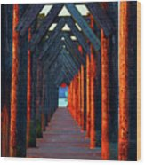 Pier Symmetry   Wood Print