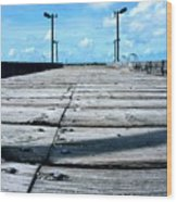 Pier To The Sky Wood Print
