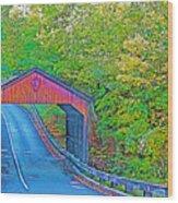 Pierce Stocking Covered Bridge In Sleeping Bear Dunes National Lakeshore-michigan Wood Print