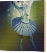 Pierrette At The Opera Wood Print