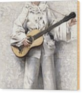 Pierrot Wood Print
