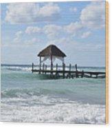 Piers By The Ocean Wood Print