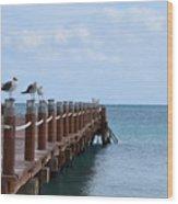 Piers By The Ocean2 Wood Print