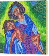 Pieta-2 Wood Print