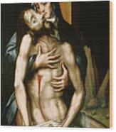 Pieta Wood Print by Luis de Morales