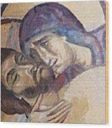 Pieta-mural Detail Wood Print
