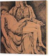 Pieta Study Wood Print